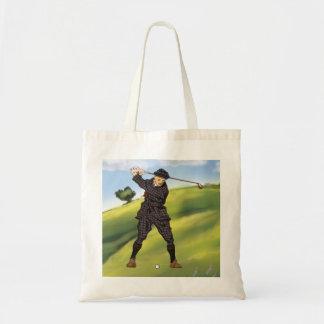 ヴィンテージの一見の期間のゴルファーのゴルフトートバック トートバッグ