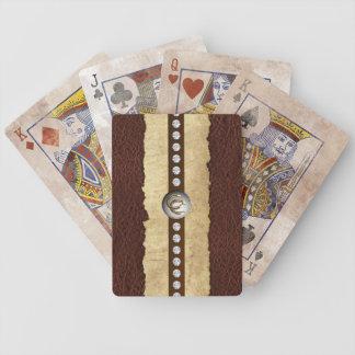 ヴィンテージの一見の西部の賭博カード バイスクルトランプ