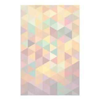 ヴィンテージの三角形パターン背景 便箋