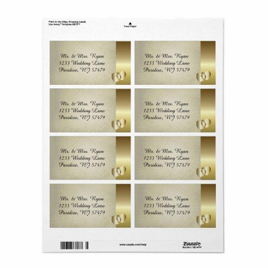 ヴィンテージの上品な金ゴールドのハート 発送ラベル