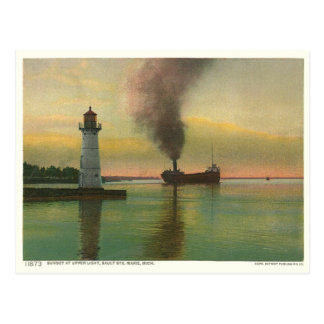 ヴィンテージの上部ライト(灯台) ポストカード