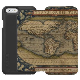 ヴィンテージの世界地図のアンティークの地図書 INCIPIO WATSON™ iPhone 6 ウォレットケース