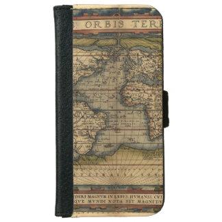 ヴィンテージの世界地図のアンティークの地図書 iPhone 6/6S ウォレットケース