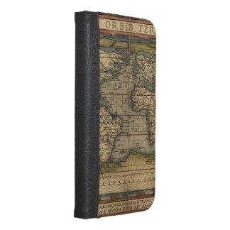 ヴィンテージの世界地図の地図書の歴史的デザイン iPhone 6/6S PLUS ウォレットケース