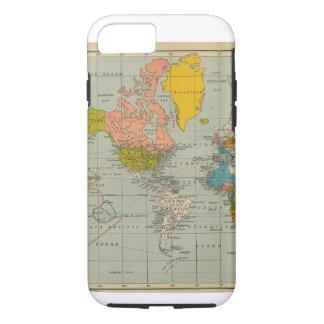 ヴィンテージの世界地図のiPhoneの場合 iPhone 7ケース