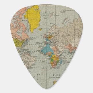 ヴィンテージの世界地図1910年 ギターピック
