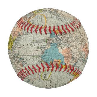 ヴィンテージの世界地図1910年 ベースボール