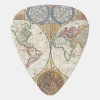 ヴィンテージの世界地図 ギターピック