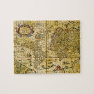 ヴィンテージの世界地図 ジグソーパズル