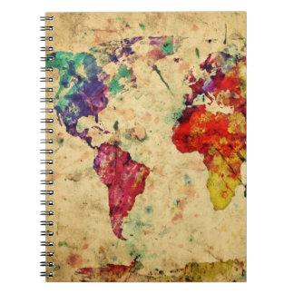 ヴィンテージの世界地図 ノートブック