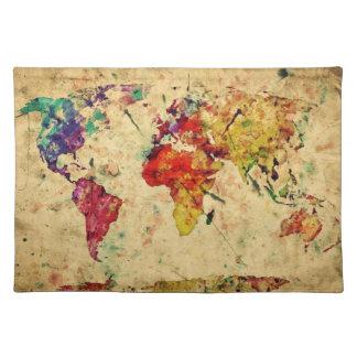 ヴィンテージの世界地図 ランチョンマット