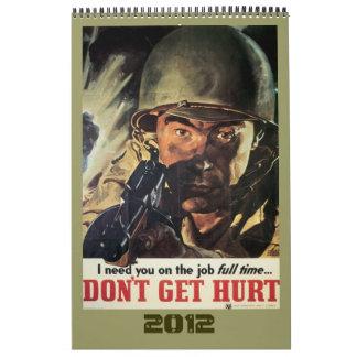 ヴィンテージの世界大戦ポスターカレンダー2012年 カレンダー