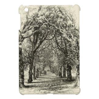 ヴィンテージの並木の道の自然の歩行の19世紀 iPad MINIケース