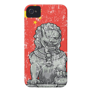 ヴィンテージの中国のチャインの彫像 Case-Mate iPhone 4 ケース