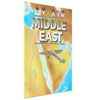 ヴィンテージの中東旅行ポスター キャンバスプリント
