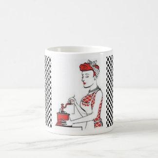 ヴィンテージの主婦 コーヒーマグカップ