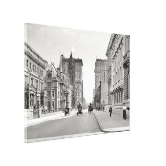 ヴィンテージの五番街NYC Photograph (1908年) キャンバスプリント