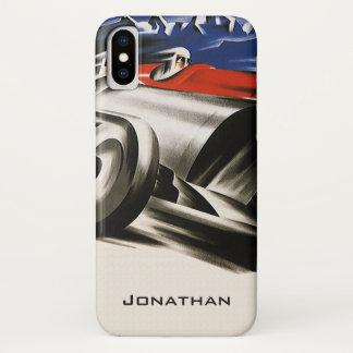 ヴィンテージの交通機関、スポーツのレースカーの競争 iPhone X ケース