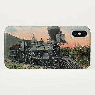 ヴィンテージの交通機関、西部の旧式な石炭の列車 iPhone X ケース