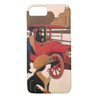 ヴィンテージの交通機関、赤く旧式な自動車 iPhone 8/7ケース