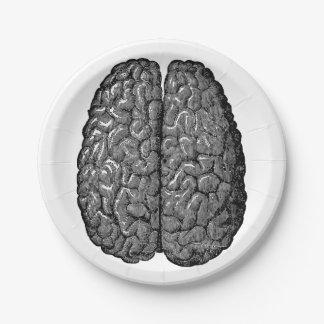 ヴィンテージの人間の脳の絵 ペーパープレート