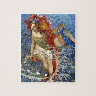 ヴィンテージの人魚のアクエリアスのゴシック様式お洒落な女性 ジグソーパズル