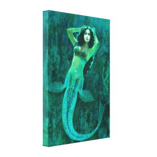 ヴィンテージの人魚のキャンバスのプリント キャンバスプリント