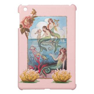 ヴィンテージの人魚の郵便はがきのSPECKのiPHONEの懸命の貝 iPad Miniケース