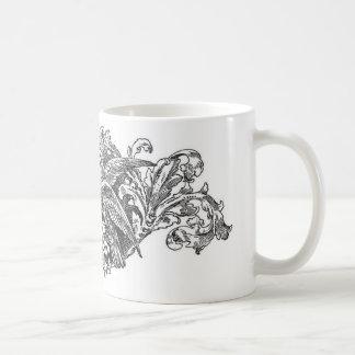 ヴィンテージの仲の良い恋人同士のデザインのタイポグラフィ コーヒーマグカップ