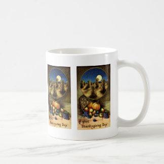 ヴィンテージの休日、嬉しい感謝祭日 コーヒーマグカップ