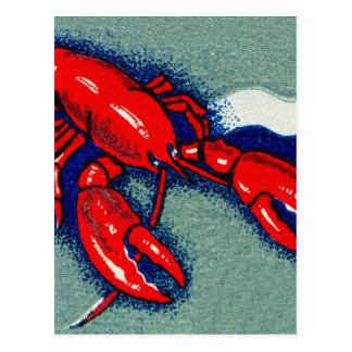 ヴィンテージの低俗なロブスターのロブスターの紙マッチの芸術 ポストカード