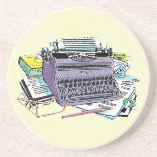 ヴィンテージの作家の用具のタイプライター紙の鉛筆 コースター