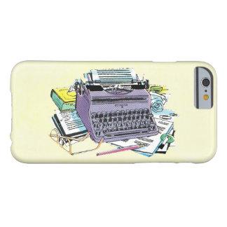 ヴィンテージの作家の用具のタイプライター紙の鉛筆 BARELY THERE iPhone 6 ケース