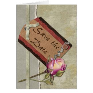 ヴィンテージの保存日付 カード