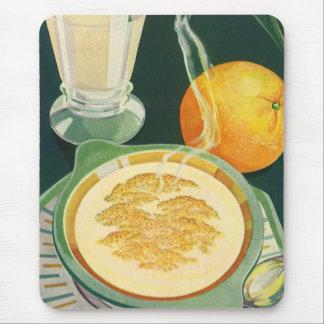 ヴィンテージの健康食品、飲料、健康な朝食 マウスパッド