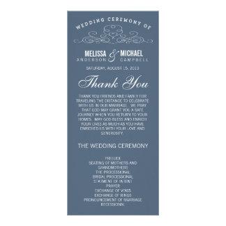 ヴィンテージの優雅%PIPE%の結婚式プログラム ラックカード