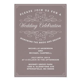 ヴィンテージの優雅%PIPE%の結婚式招待状 カード