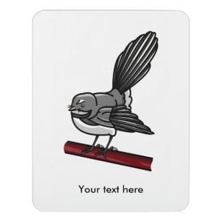 ヴィンテージの入れ墨によってインスパイアかわいい漫画のファンテール ドアサイン