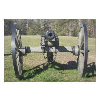ヴィンテージの内戦の大砲の場所マット ランチョンマット