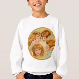 ヴィンテージの円の金天使の顔 スウェットシャツ