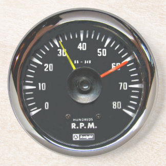 ヴィンテージの円形のアナログの自動回転速度計の飲み物のコースター コースター