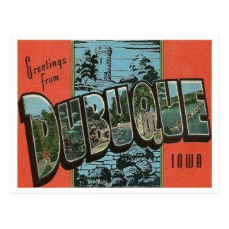 ヴィンテージの再生Dubuque、アイオワ ポストカード