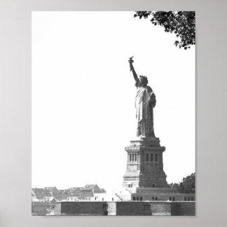 ヴィンテージの写真のニューヨークシティの自由の女神 ポスター