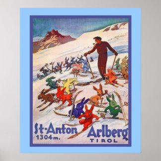 ヴィンテージの冬季スポーツポスター ポスター