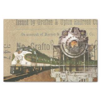 ヴィンテージの列車のプリント 薄葉紙