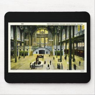 ヴィンテージの列車の広場のシカゴ連合場所 マウスパッド