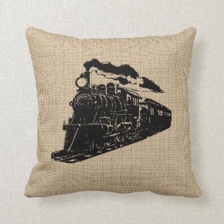 ヴィンテージの列車の枕 クッション