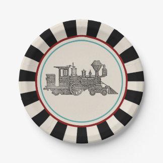 ヴィンテージの列車 ペーパープレート