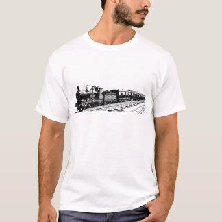 ヴィンテージの列車-黒 Tシャツ