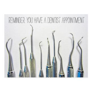 ヴィンテージの刺激を受けたな歯科医のアポイントメントのメモ ポストカード
